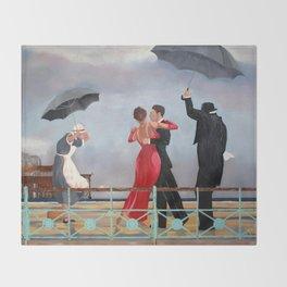 The Singing Butler in Brighton Throw Blanket