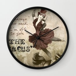 Join the Circus Wall Clock