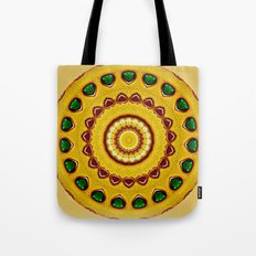 Golden Jewel with Emerald stones  Tote Bag