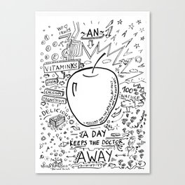 An apple a day keeps the doctor away Canvas Print