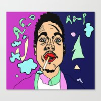 chance the rapper Canvas Prints featuring Chance The Rapper by BlvckBewty