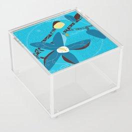 Blue Saucer Magnolia Acrylic Box