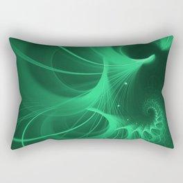 Green Spiral Rectangular Pillow