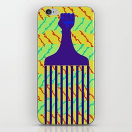 Black Power Afro Comb iPhone Skin