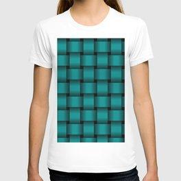 Large Dark Cyan Weave T-shirt