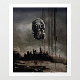 Meditative Mask Art Print