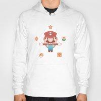 super mario Hoodies featuring Super Mario by Richard Howard