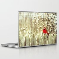 cardinal Laptop & iPad Skins featuring cardinal by Bonnie Jakobsen-Martin