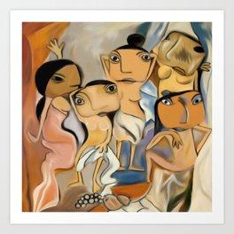 Les Demoiselles d'Avignon Art Print