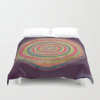 geode Duvet Covers featuring Oh My Geode by Amy Moen