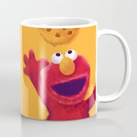 elmo Mugs featuring Cookies 2 by Lime