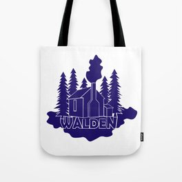 Walden - Henry David Thoreau (Blue version) Tote Bag