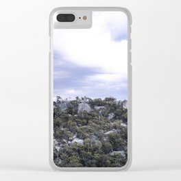 Storm Threatened Mountain Clear iPhone Case