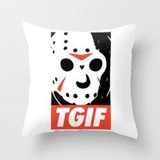 TGIF Throw Pillow