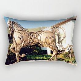 Horse & Plough by Shimon Drory Rectangular Pillow