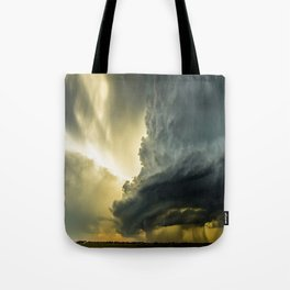 Supercell - Massive Storm Over the Great Plains Tote Bag