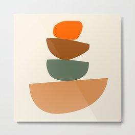 Abstract Geometric Balancing Stones Modern Art Print Metal Print