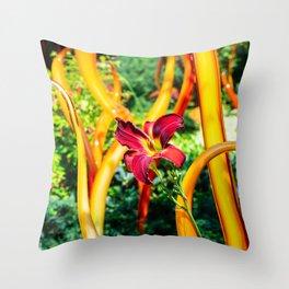 gardens of glass Throw Pillow
