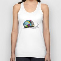 snail Tank Tops featuring Snail by Sary and Saff