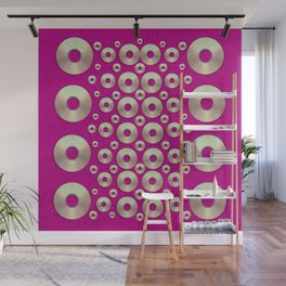 Going gold or metal on fern pop art Wall Mural