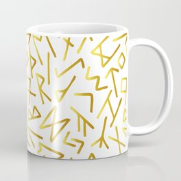 Scrambled Golden Runes Light Coffee Mug