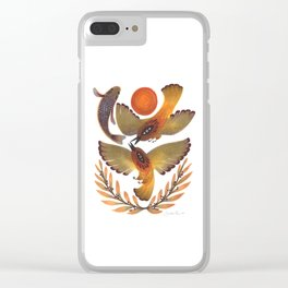 Fighting Birds Clear iPhone Case