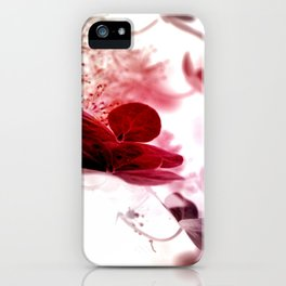 climbing hydrangea red iPhone Case