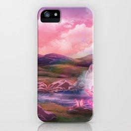 Super Magical Pink Landscape iPhone Case