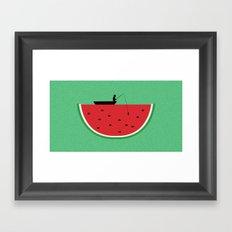 Watermelon Fisher Framed Art Print