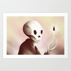 oil worshipper Art Print