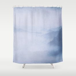 Sacred Cove Shrouded in Blue Mist Shower Curtain
