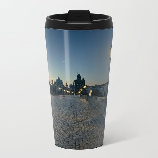 Charles Bridge at Blue Hour Metal Travel Mug