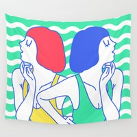 girls Wall Tapestries featuring Girls by afrancesado