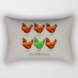 Funny Martian Chicken Be Different Motivational Art Rectangular Pillow