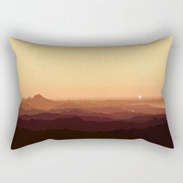 Sunset in Benidorm from Cabezón de Oro (Cabeçó d'Or) Rectangular Pillow