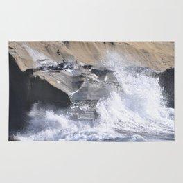 SPLASHING OCEAN WAVE Rug
