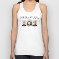 supernatural Tank Tops featuring SUPERNATURAL by Space Bat designs