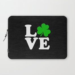 Love with Irish shamrock Laptop Sleeve