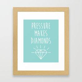 Pressure Makes Diamonds Motivational Quote Framed Art Print