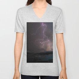 Spring Lightning Unisex V-Neck