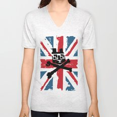 Bear Picnic Union Jack Unisex V-Neck