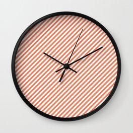 Orange stripes Wall Clock