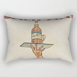 Vintage 1920 Cordial Campari Advertisement by Luigi Caldanzano Rectangular Pillow