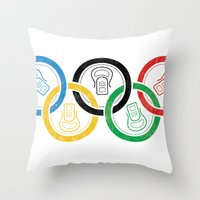 sports Throw Pillows featuring sports drink by Jordan Horstman