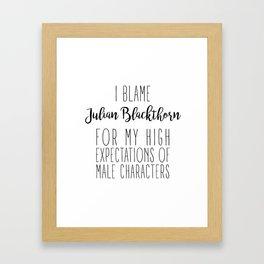 High Expectations - Julian Blackthorn Framed Art Print