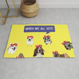 Political Pups - When We All Vote Rug