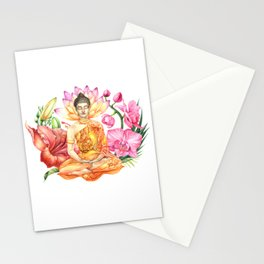 Buddha in flowers Stationery Cards