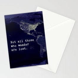 awesome travel quote Stationery Cards