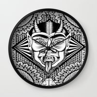 devil Wall Clocks featuring Devil by Cady Bogart
