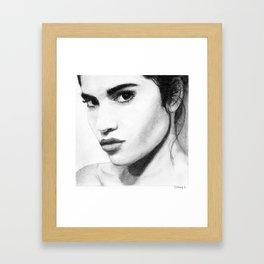 Female face Framed Art Print